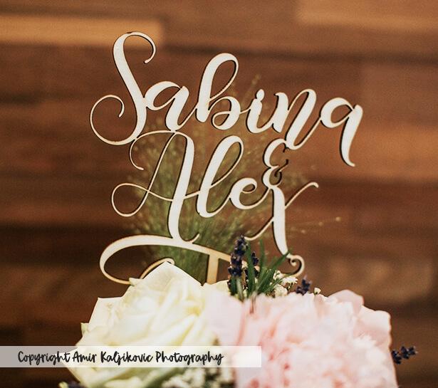 Sabina & Alex Caketopper